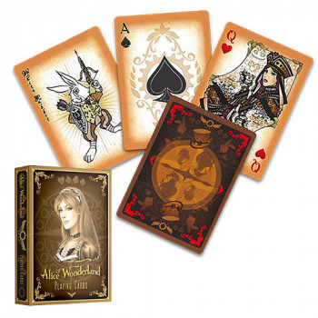 Alice of Wonderland Gold - Bicycle Pokerdeck