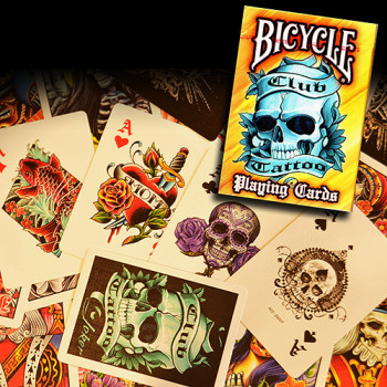 Bicycle Club Tattoo Deck - Orange