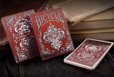 Bicycle Spirit II Red MetalLuxe - Pokerdeck