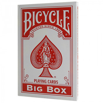 Große Spielkarten - Rot - Big Bicycle Cards - Jumbo Deck