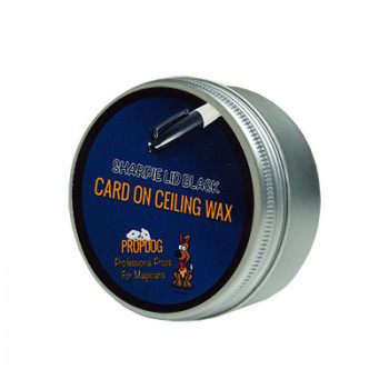 Card on Ceiling Wax by David Bonsall 15g - Schwarz