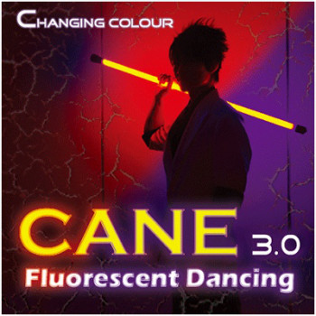 Color Changing Cane 3.0 - Fluorescent Dancing Cane Professional Two Color by Jeff Lee