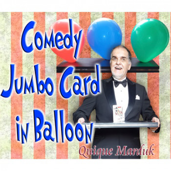 Comedy Card In Balloon by Quique Marduk - Zaubertrick