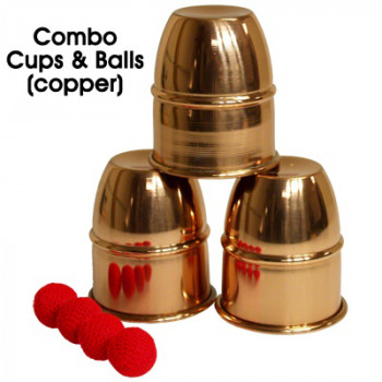 Cups and Balls Copper with Chop Cup Combo by Premium Magic - Becherspiel