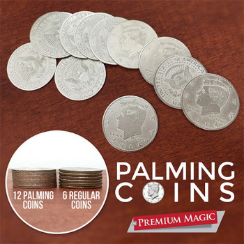 Palming Coin Set by Premium Magic - 12 Stück - Half Dollar Palmiermünzen