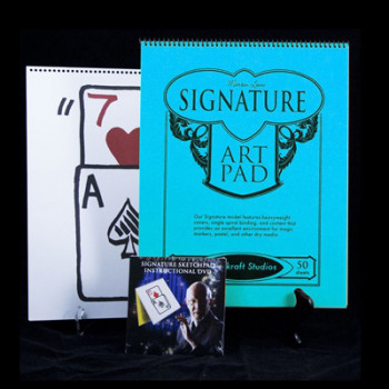 Signature Edition Sketchpad Card Rise by Martin Lewis - Skizzenblock Kartensteiger Zaubertrick