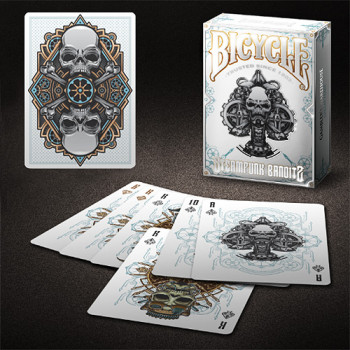 Steampunk Bandits White - Bicycle Pokerdeck