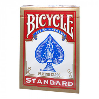 Bicycle 808 Rider Back - Rot - Standard Pokerkarten