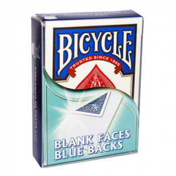Gaff Deck Bicycle Blanko Bild - Blau - blank face