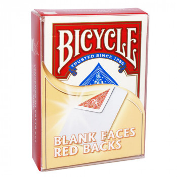 Gaff Deck Bicycle Blanko Bild - Rot - blank face