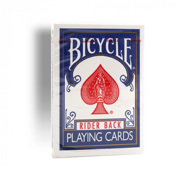 Bicycle 807 Rider Back - Old Tuck Case - Blau - altes orig. classic box Design - Pokerkarten