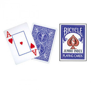 Bicycle 808 Rider Back - Blau - Jumbo Index - Pokerdeck