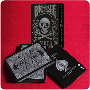 Bicycle Skull Silver - Pokerdeck