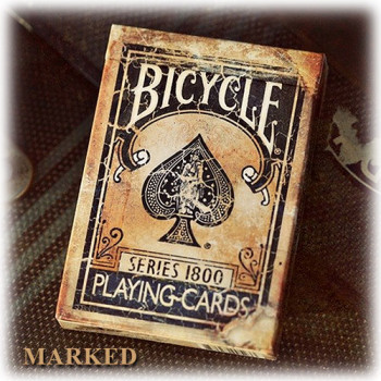 Bicycle Vintage 1800 - Blau - Markierte Karten - Pokerdeck