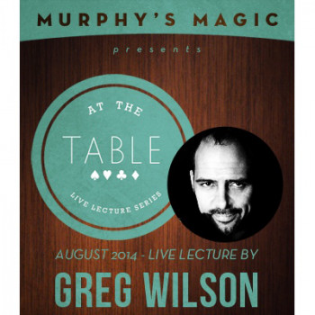 At the Table Live Lecture - Greg Wilson 8/27/2014 - Video - DOWNLOAD