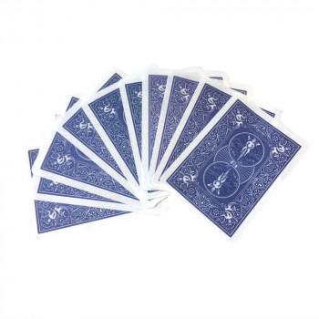 Pyrokarten - Bicycle Rücken - Blau - Flash Poker Cards - 10 Stück
