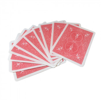 Pyrokarten - Bicycle Rücken - Rot - Flash Poker Cards - 10 Stück