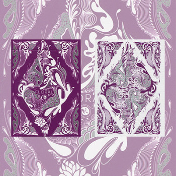 Bicycle Floral Deck Purple by Aloy
