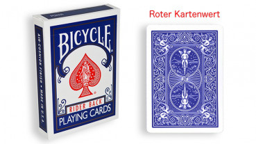 Force Deck - Blau - Roter Kartenwert - Bicycle Forcierspiel - Forcing Cards - Forcierkarten