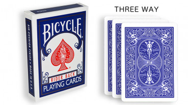 Force Deck - Blau - Dreifach - Bicycle Forcierspiel - Three Way Forcing Cards - Forcierkarten