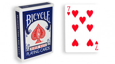 Force Deck - Blau - Herz 7 - Bicycle Forcierspiel - Forcing Cards - Forcierkarten