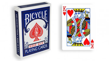 Force Deck - Blau - Herz König - Bicycle Forcierspiel - Forcing Cards - Forcierkarten