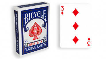 Force Deck - Blau - Karo 3 - Bicycle Forcierspiel - Forcing Cards - Forcierkarten