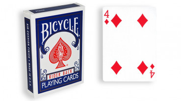 Force Deck - Blau - Karo 4 - Bicycle Forcierspiel - Forcing Cards - Forcierkarten