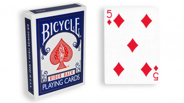 Force Deck - Blau - Karo 5 - Bicycle Forcierspiel - Forcing Cards - Forcierkarten