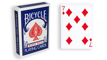 Force Deck - Blau - Karo 7 - Bicycle Forcierspiel - Forcing Cards - Forcierkarten