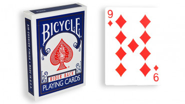 Force Deck - Blau - Karo 9 - Bicycle Forcierspiel - Forcing Cards - Forcierkarten