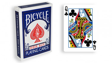 Force Deck - Blau - Kreuz Dame - Bicycle Forcierspiel - Forcing Cards - Forcierkarten