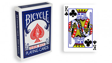 Force Deck - Blau - Kreuz König - Bicycle Forcierspiel - Forcing Cards - Forcierkarten