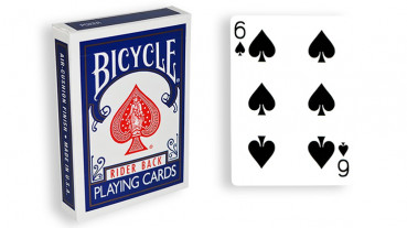 Force Deck - Blau - Pik 6 - Bicycle Forcierspiel - Forcing Cards - Forcierkarten