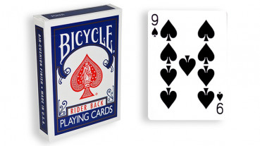 Force Deck - Blau - Pik 9 - Bicycle Forcierspiel - Forcing Cards - Forcierkarten