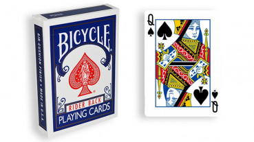 Force Deck - Blau - Pik Dame - Bicycle Forcierspiel - Forcing Cards - Forcierkarten