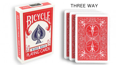 Force Deck - Rot - Dreifach - Bicycle Forcierspiel - Three Way Forcing Cards - Forcierkarten