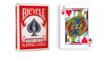 Force Deck - Rot - Herz Bube - Bicycle Forcierspiel - Forcing Cards - Forcierkarten