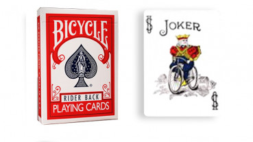 Force Deck - Rot - Joker Farbe - Bicycle Forcierspiel - Forcing Cards - Forcierkarten