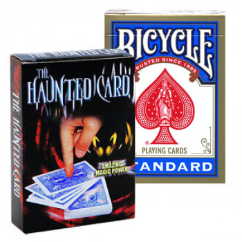 Haunted Card - Gimmick und Deck - Blau - Kartentrick