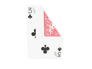 Jumbo Gaff Card - (3 1/2 of Clubs) - Bicycle