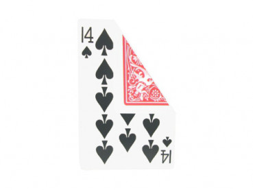 Jumbo Gaff Card - (14 of Spades / Pik 14) - Bicycle