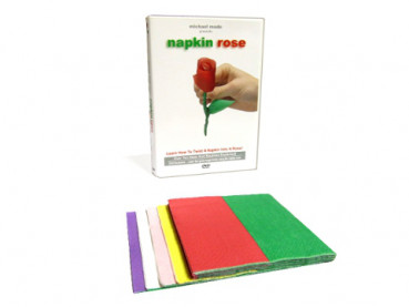 Napkin Rose & DVD - (Origami Rose aus Serviette) - by Michael Mode