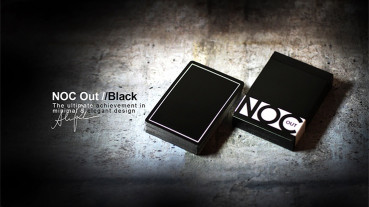 NOC Out Playing Cards - Schwarz