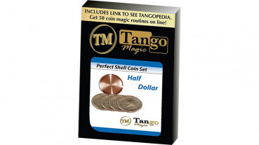 Perfect Shell Coin Set Half Dollar (Shell and 4 Coins) by Tango Magic