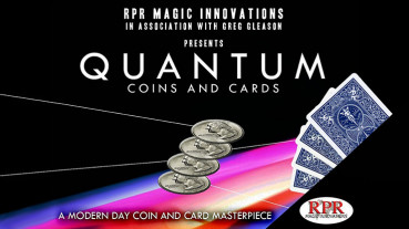 Quantum Coins (Euro 50 cent Blue Card) by Greg Gleason and RPR Magic Innovations