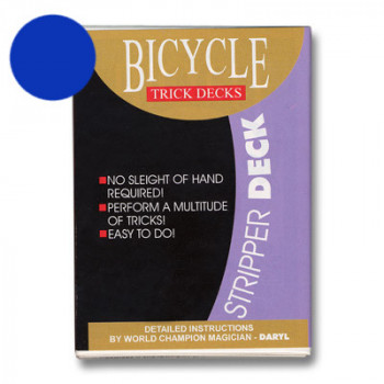 Stripper Deck Bicycle - Blau - Kartentrick