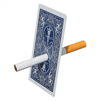 Zigarette durch Karte - Cigarette through Card - Kartentrick