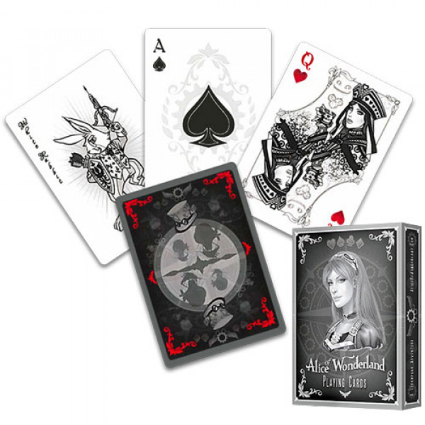 Alice of Wonderland Silver - Bicycle Pokerdeck