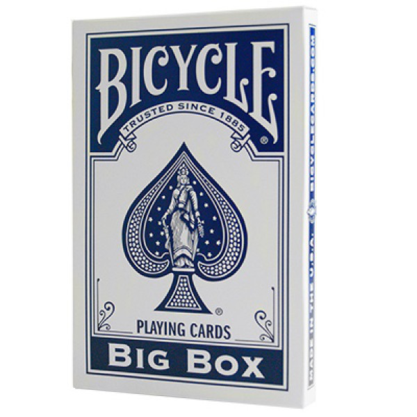 Große Spielkarten - Blau - Big Bicycle Cards - Jumbo Deck